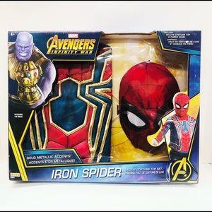 iron-spider boys deluxe costume top set ( 4-6 )